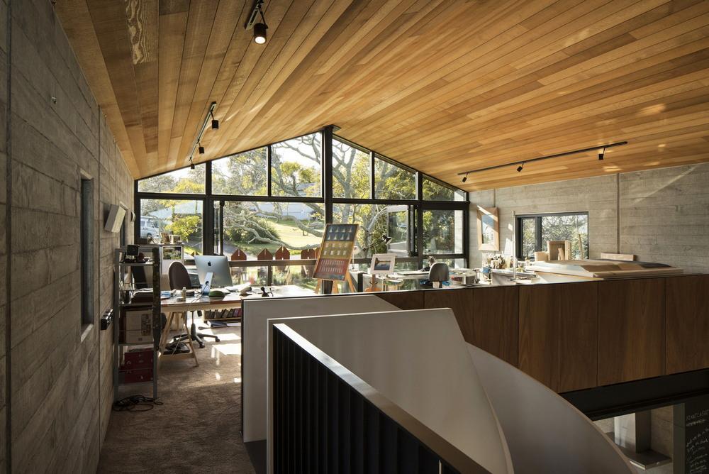 Дом с центральным пространством в Новой Зеландии