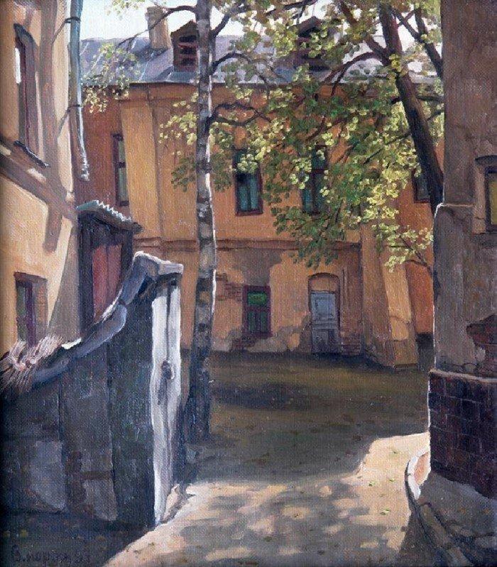 Старые московские дворики на картинах Владимира Парошина