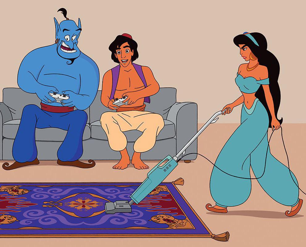 Как бы выглядели диснеевские мультфильмы сегодня