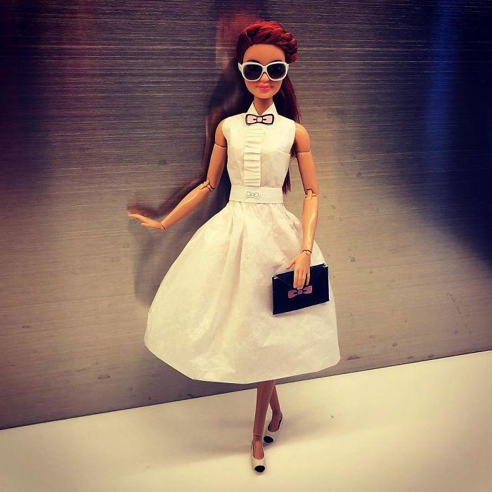 Свадебные платья для кукол из салфеток