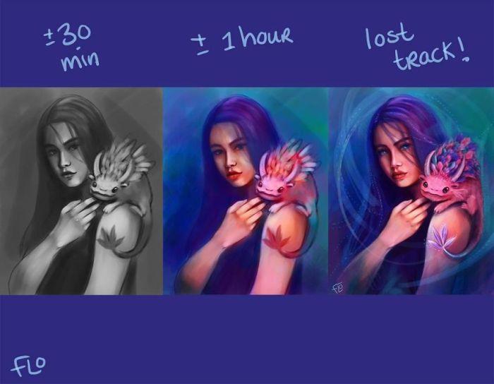 Как практика и время помогают художнику