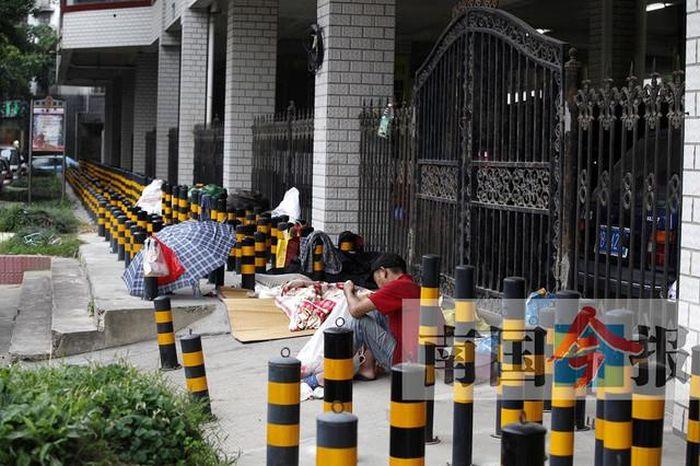 Защита территории от бомжей в Китае