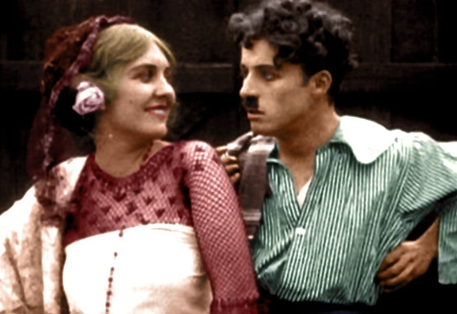 Цветные фотографии Чарли Чаплина 1910-1930х годов