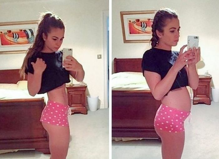Девушки на снимках в социальных сетях и в реальности