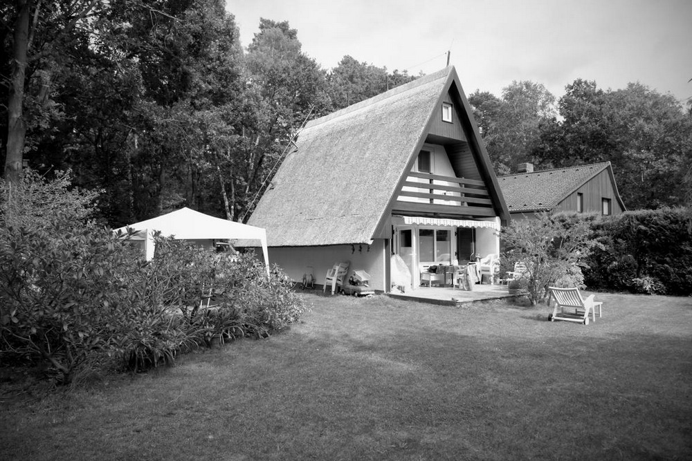 Современное расширение старого домика в Германии