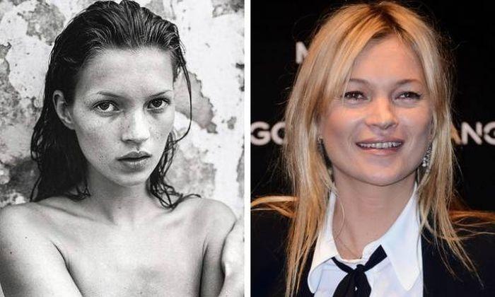 Известные модели в начале своей карьеры и сейчас