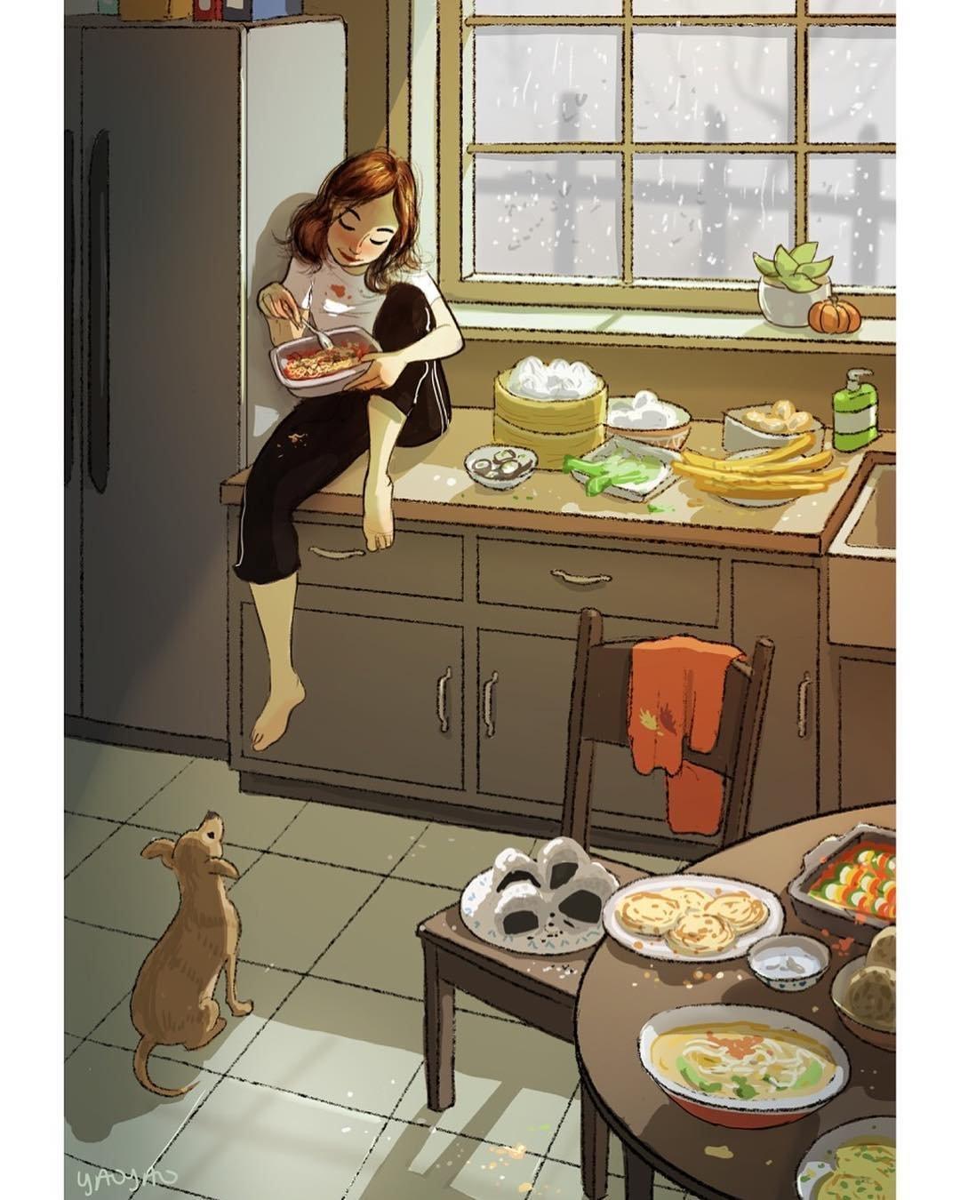 Добрые иллюстрации о собаках и их владельцах