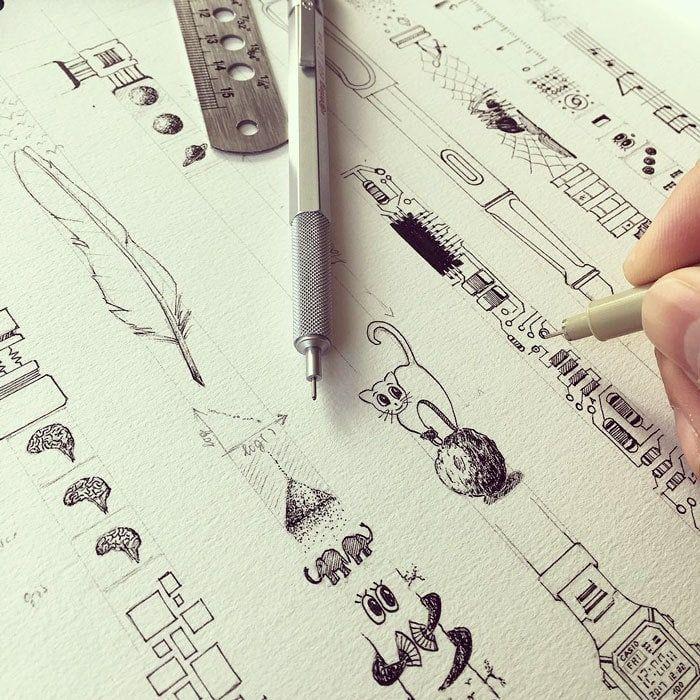 Инженер превращает обыкновенные блокноты в произведение искусства