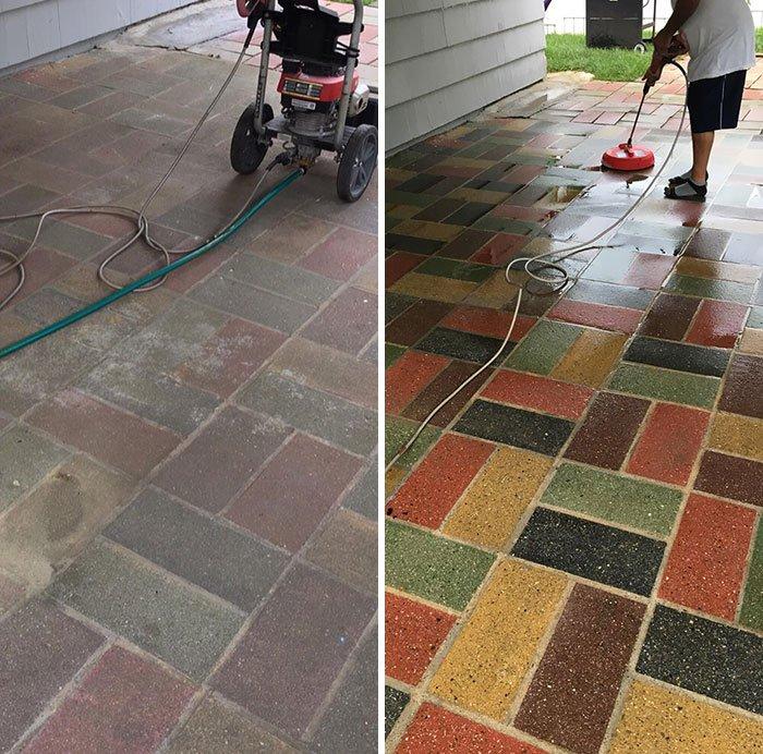 Объекты, места и предметы до и после очистки