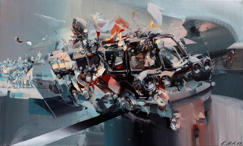 Сложные картины и уличные рисунки от Роберта Проха