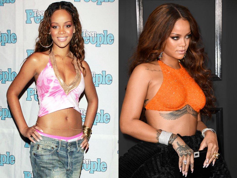 Знаменитости и их татуировки: до и после