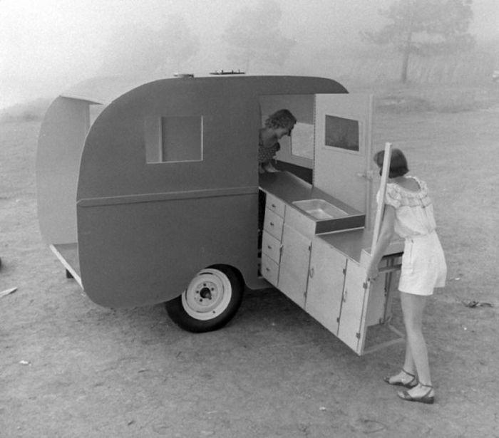 Сборный дом на колесах 50-х годов