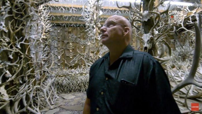 Внушительная коллекция рогов животных одного американца