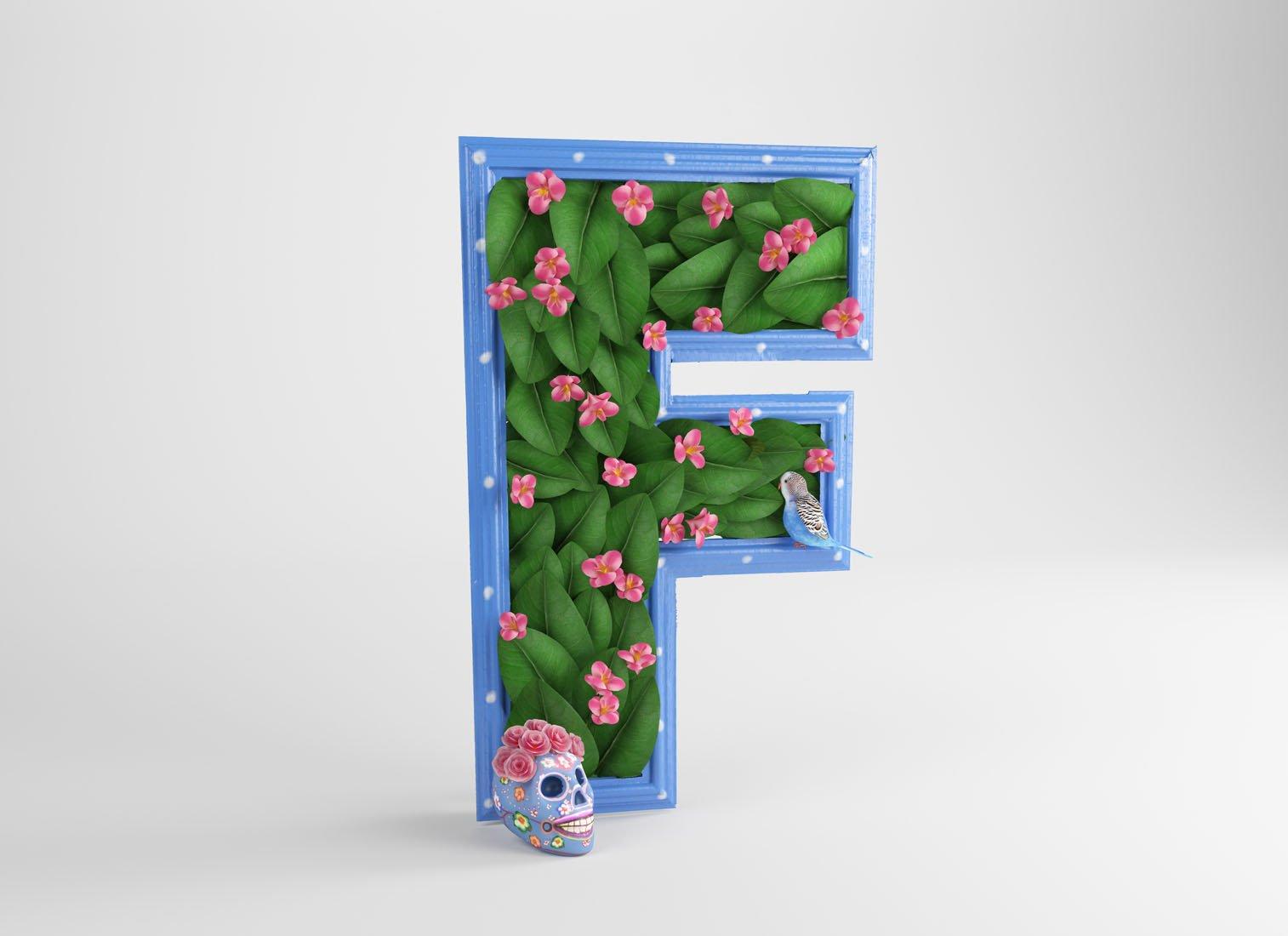 Артфавит - буквы в стиле известных художников