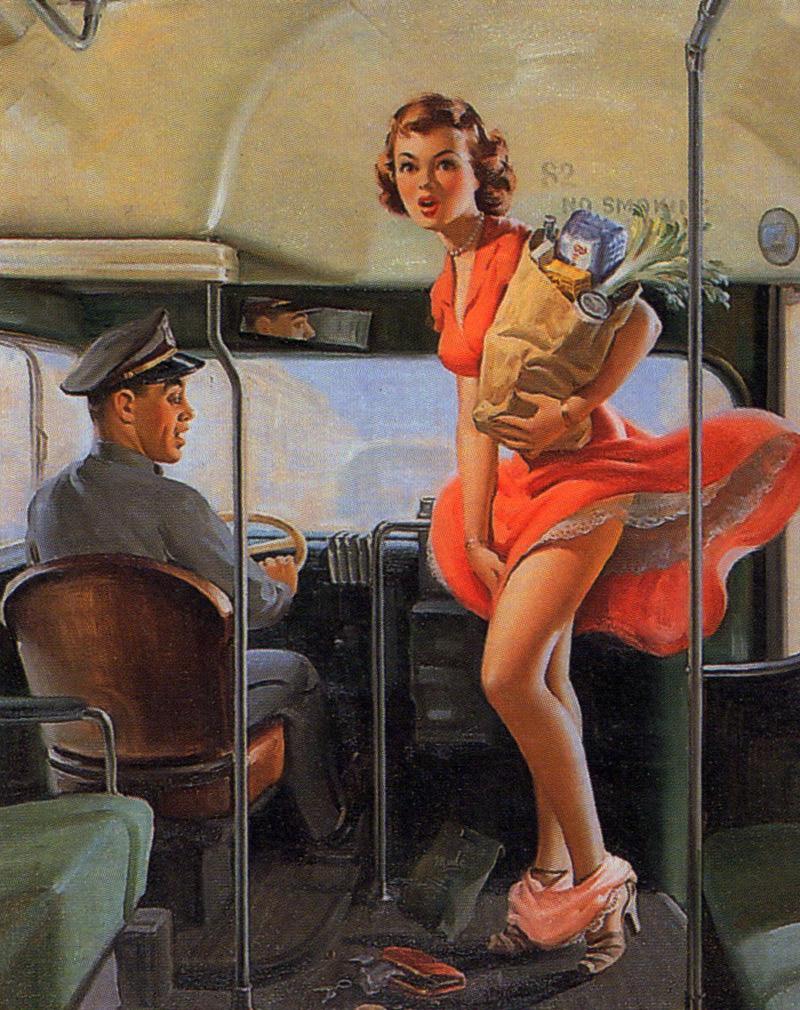Падающие женские трусики из 1940-х