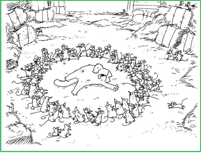 Кот Саймона в забавных комиксах