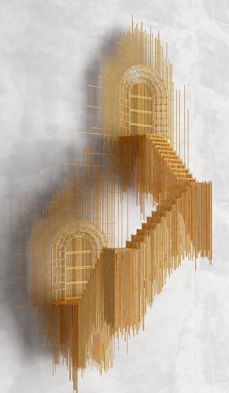 Стальная 3D-архитектура от Дэвида Морено