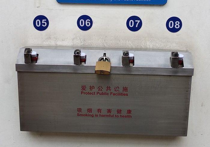 Практичное приспособление в аэропорту Шанхая