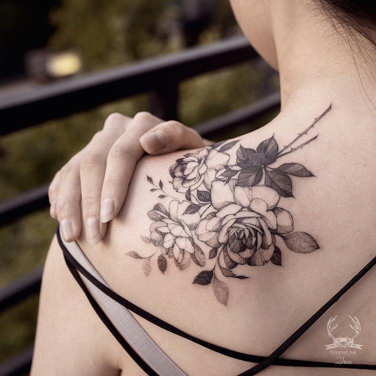 Изящные татуировки от Зихвы Хондэ