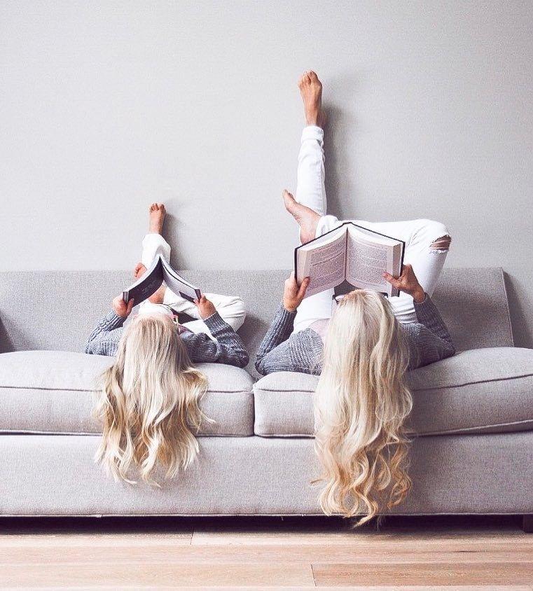 Забавная серия семейных фотографий против скуки