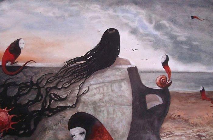 Жуткие сюрреалистичные картины от Сержа Сунне