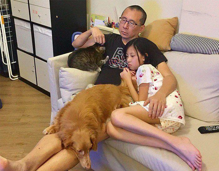 Китайская семья на протяжении 10 лет делает одно и то же фото