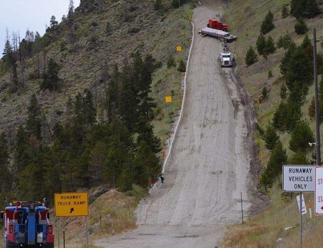 Тупиковые дороги, которые останавливают грузовики с отказавшими тормозами