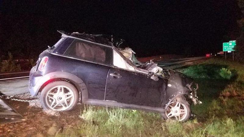 Последствия столкновения авто с лосем