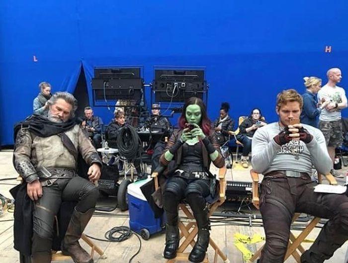 Кадры со съемочных площадок студии Marvel