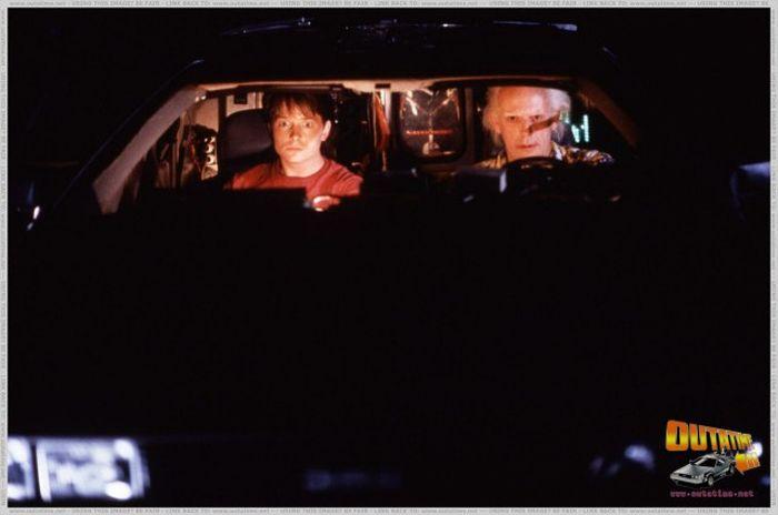 Кадры со съемок фильма Назад в будущее