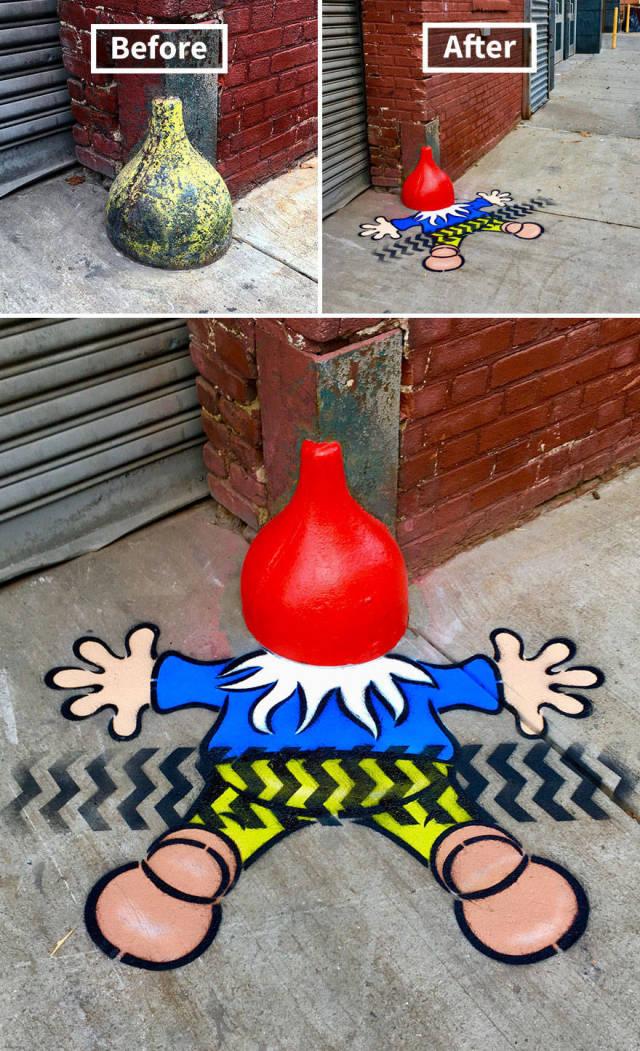 Яркие граффити на улицах Нью-Йорка