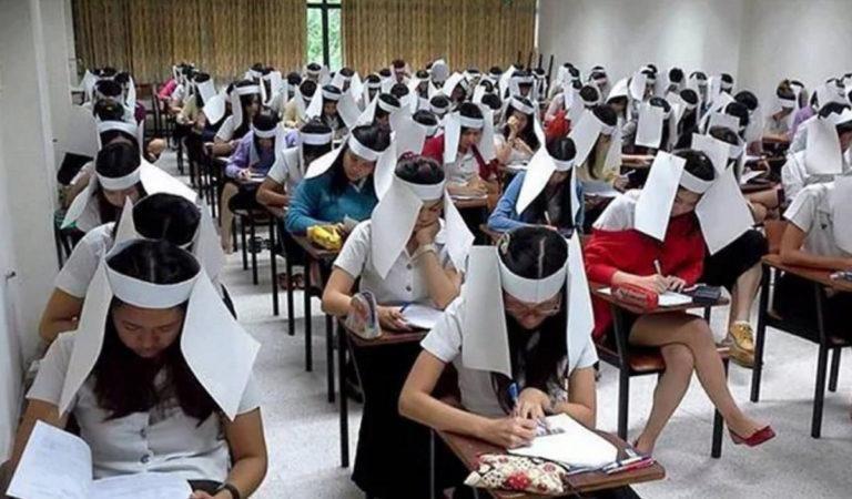 Борьба со списыванием на экзаменах в Китае