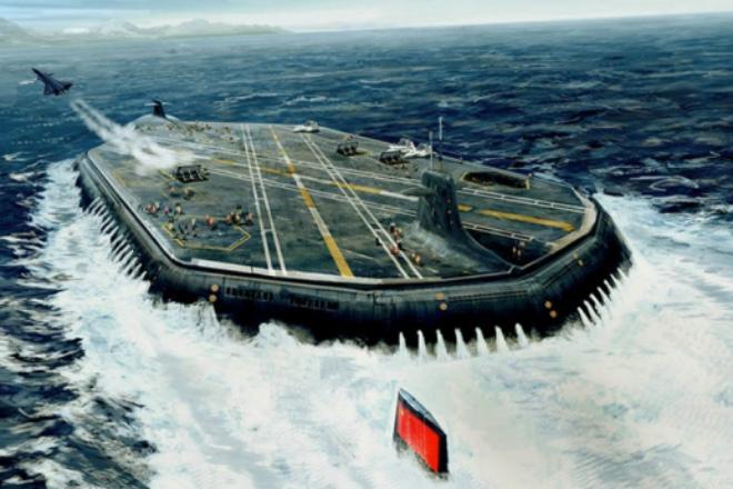 Проект подводного атомного авианосца России