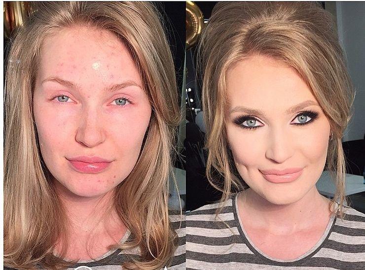 Разница с макияжем и без фото