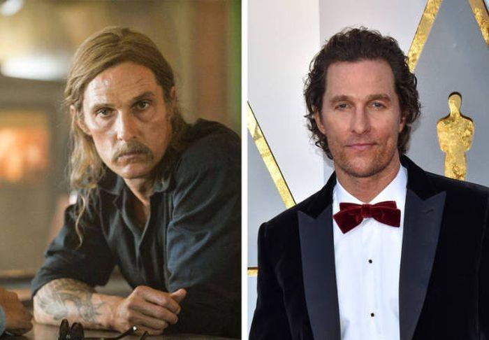 Знаменитые актеры в фильмах и в жизни