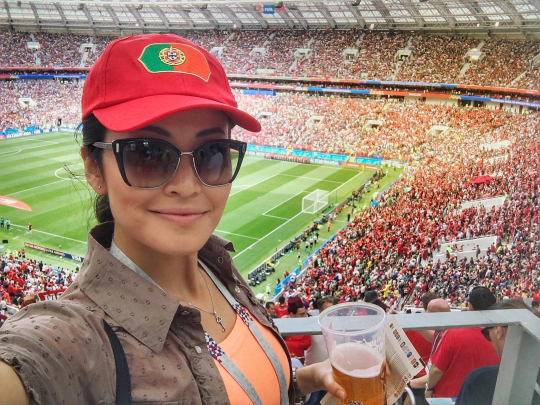 Симпатичные девушки на Чемпионате мира по футболу 2018