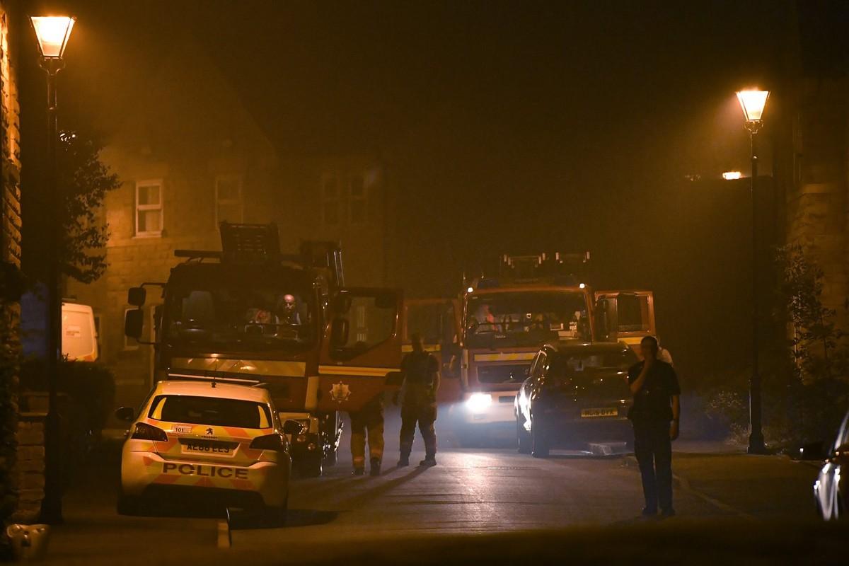 Крупные лесные пожары в Манчестере