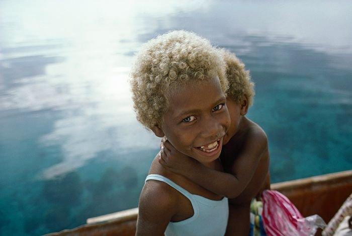 Необычная внешность жителей Соломоновых островов