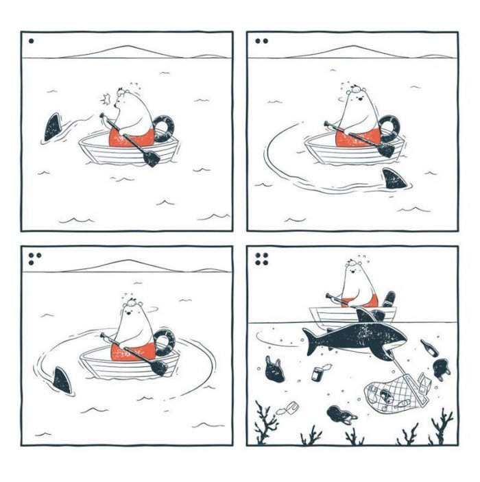 Забавные комиксы про двух друзей Ту и Теда