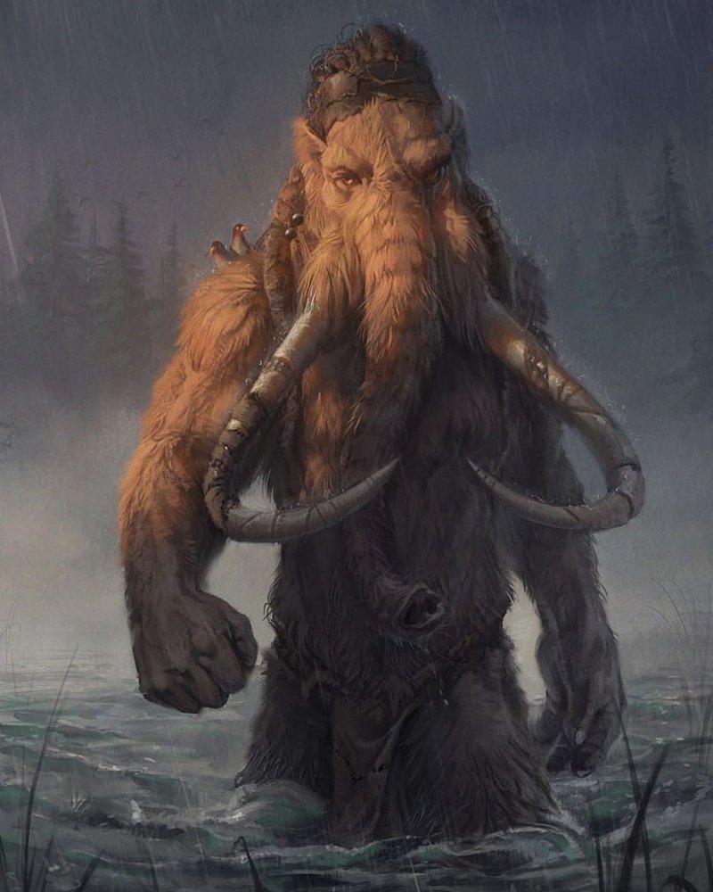 Человекоподобные звери - если бы эволюция пошла по другому пути