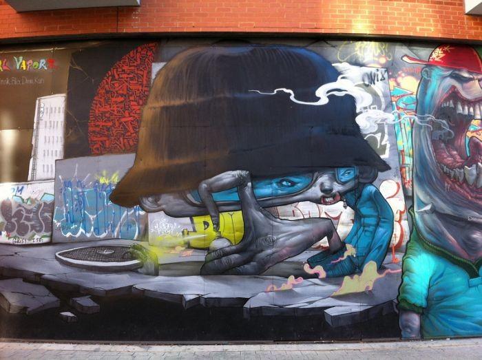 Креативные граффити из Лондона