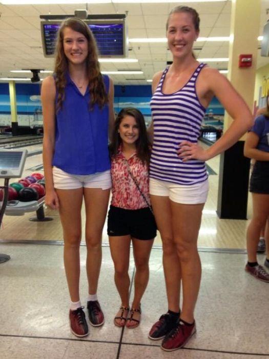 Невероятно высокие девушки