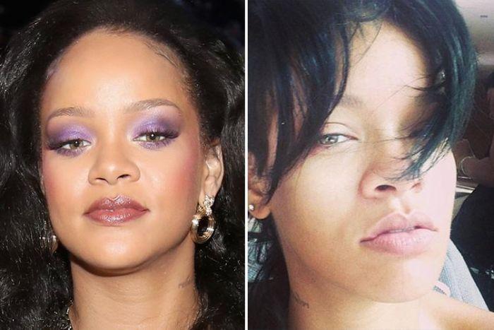 Знаменитости с макияжем и без