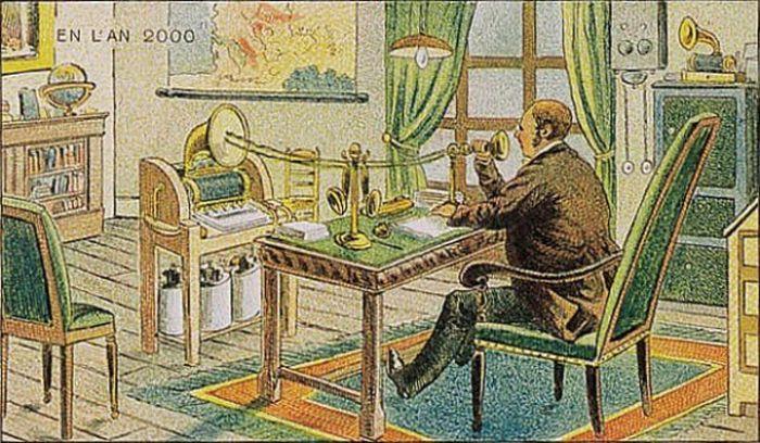 Рисунки из научного журнала 1910 года, отображающие будущее