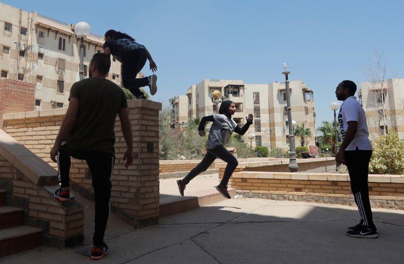 Египетские паркурщицы в хиджабах