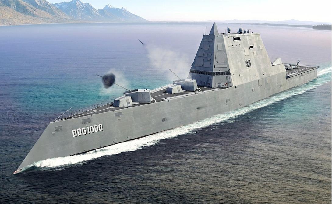 Как устроен первый корабль-невидимка Zumwalt