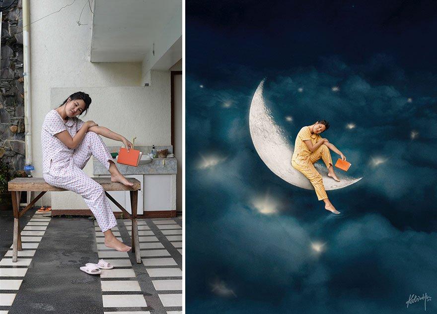 Удивительные коллажи в сказочной тематике от Катрины Ю