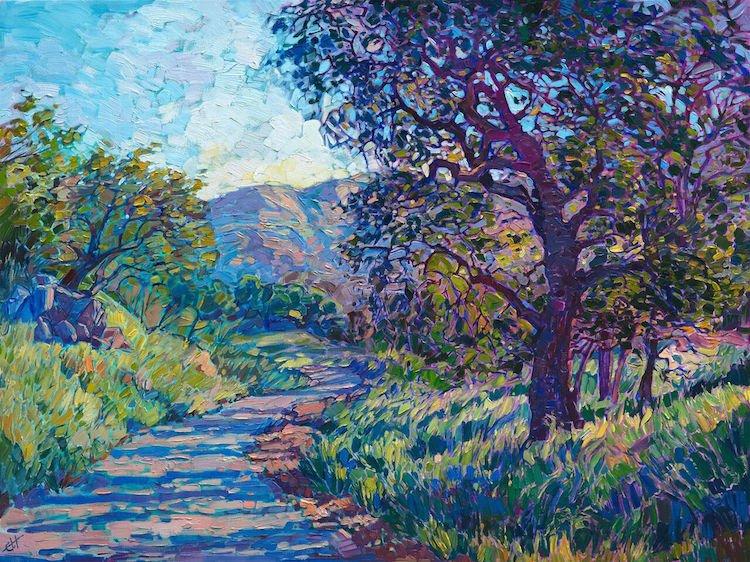 Американские пейзажи в красочных картинах Эрин Хэнсон