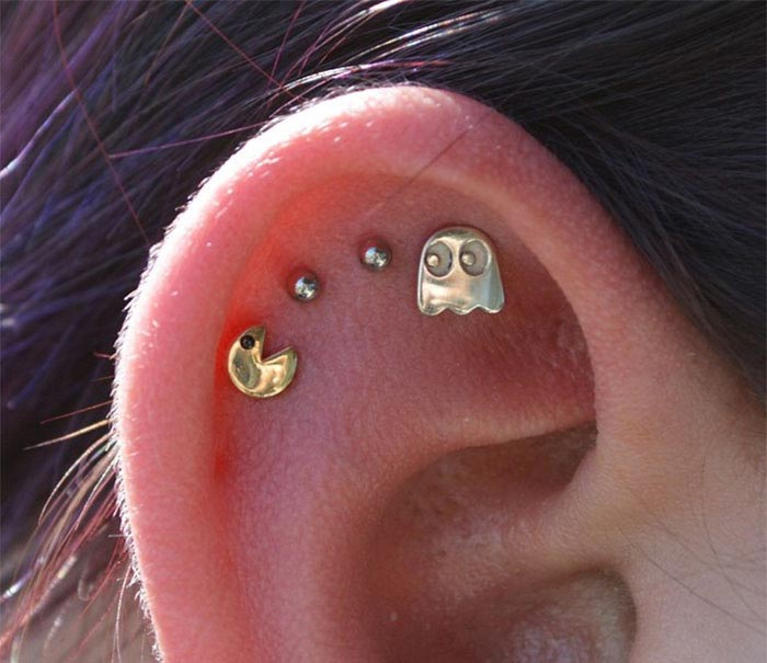 Подборка немного странных украшений для ушей