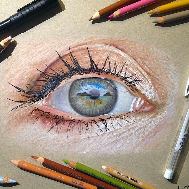 Картины глаз от американского художника